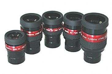 Lunt Set of 5 H-alpha optimized Eyepieces, 8mm up to 27mm